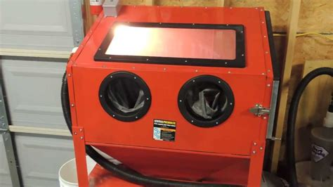 harbor freight blast cabinet modifications central pneumatic blast cabinet dust collector cabinets