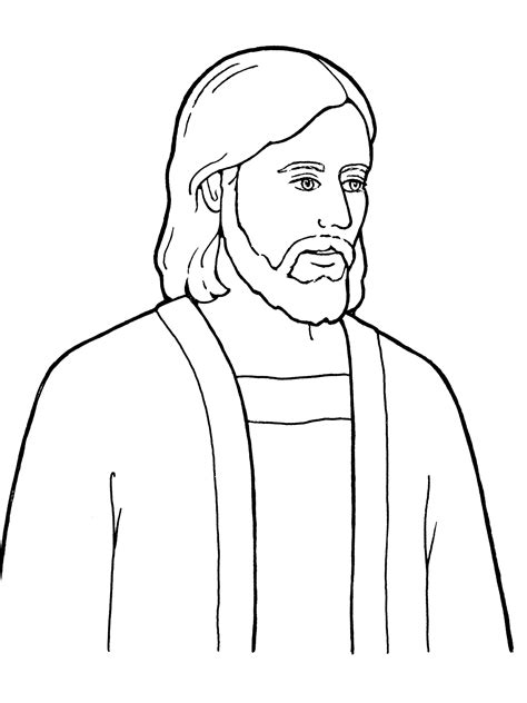 lds coloring pages of the savior jesus christ the son of god