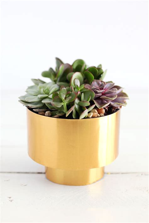 Succulents Planters by Brass Succulent Planter Diy A Beautiful Mess
