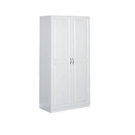 closetmaid 36 in laminated 2 door raised panel storage