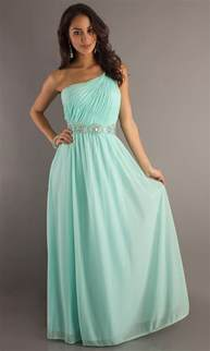 One-shoulder A-line Chiffon Floor-length Beaded Long Prom Dress