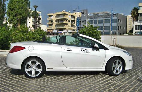 peugeot car rental grand car rentals car rentals in cyprus peugeot 308 cc