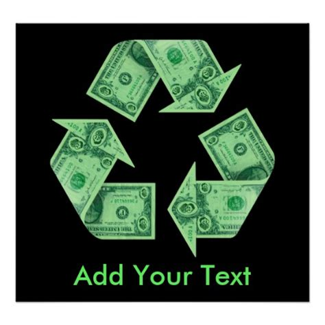 Make Money Recycling Paper - recycle posters zazzle