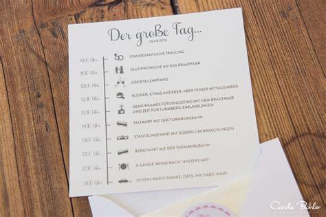Hochzeitseinladung Tagesablauf by Ideen Tagesablauf Hochzeit Kreative Ideen F 252 R