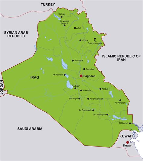 map of iraq cities iraq cities map