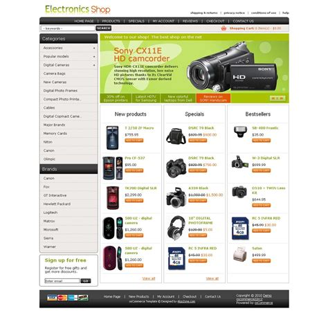 os04a00433 oscommerce template for electronic stores