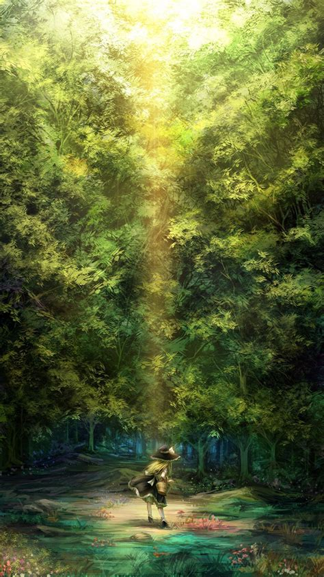 wallpaper iphone 6 forest cartoon girl lost in forest iphone 6 6 plus and iphone 5