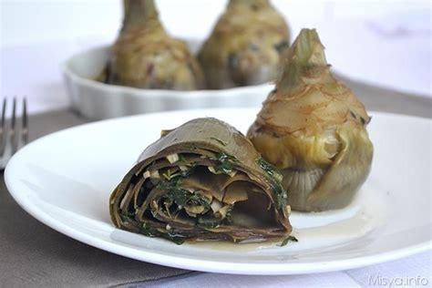 cucinare i carciofi alla romana 187 carciofi alla romana ricetta carciofi alla romana di misya
