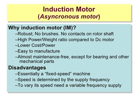 induction generator advantages disadvantages induction motor advantages and disadvantages 28 images classification of electric motors