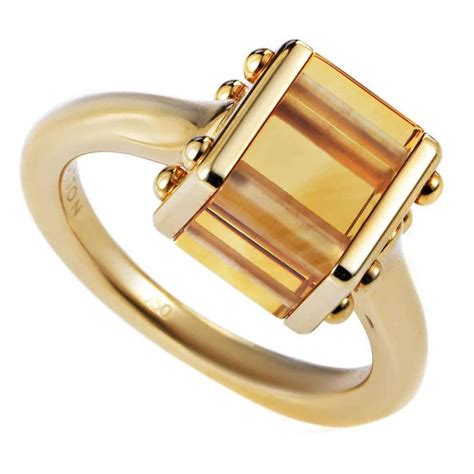 L Is Vuitton Gold louis vuitton citrine gold ring at 1stdibs