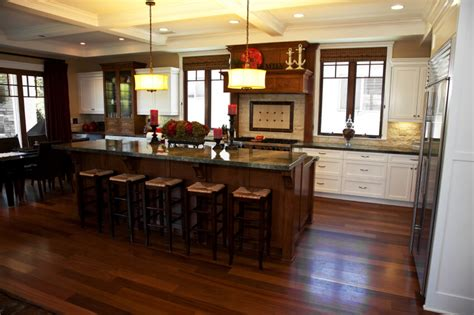 awesome varnished wood flooring in white kitchen themed oak kitchen cabinets with dark floors savae org