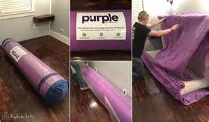 our new purple mattress the realistic mama