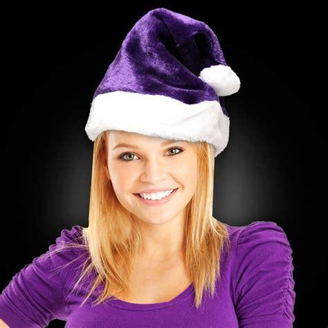 shop by color purple plush santa hat purple shop by color