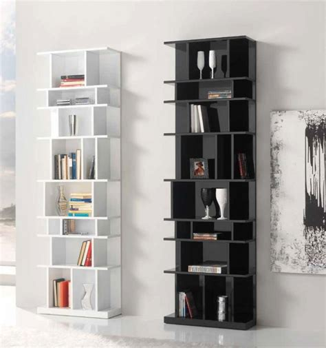 The Appeal Of The Modern Wall Bookcases White Gloss Bookcase