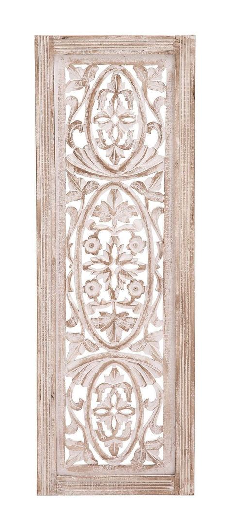white washed carved wood wall panel shabby country cottage chic home decor home diy