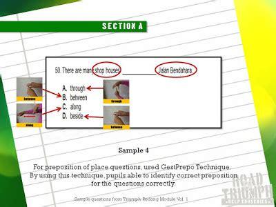 manfaat layout peta teknik menjawab kertas bahasa inggeris pemahaman 013a