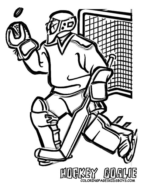 nhl goalie coloring pages hockey goalie coloring pages