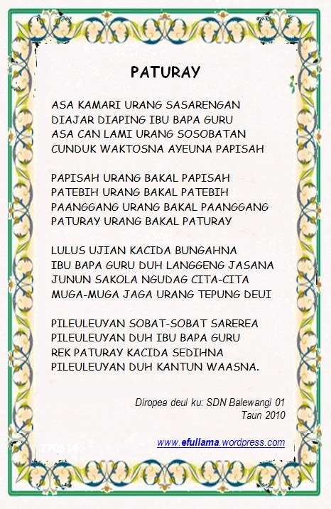 pidato lagu dan sungkeman upacara adat kelas vi efullama