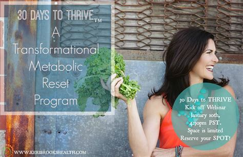Thrive 30 Day Detox by 30 Days To Thrive Vitrual Program Health