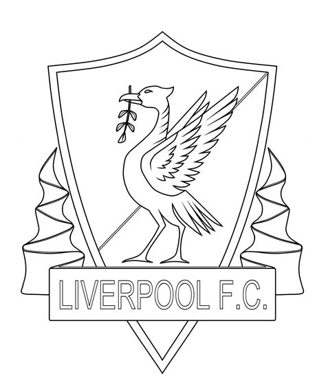 liverpool colors free liverpool fc coloring pages