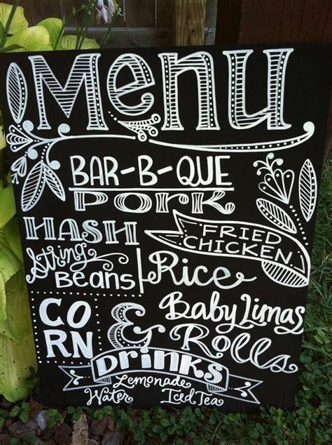 design menu sign handwritten 15x20 chalkboard wedding menu sign