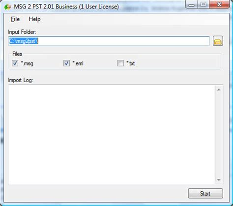 msg 2 pst file extensions