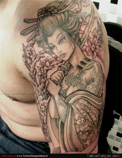 tattoo oriental samurai e gueixa mijn tattoos de weg naar een old skool sleeve