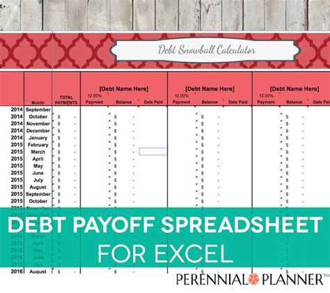 debt payoff spreadsheet debt snowball excel credit