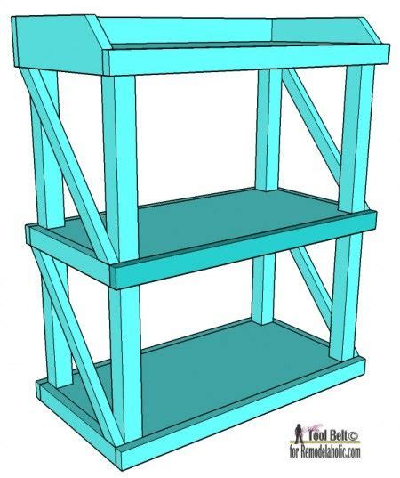 diy plans  build  easy  stylish small shelf