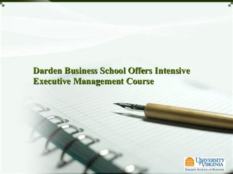 Executive Mba Intensive by Darden Business School Offers Intensive Executive