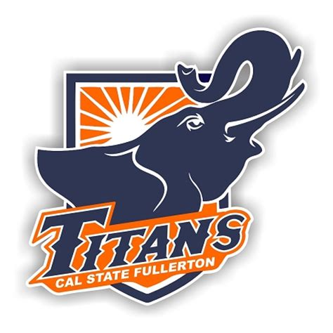 cal state fullerton titans emblem die cut decal 4 sizes