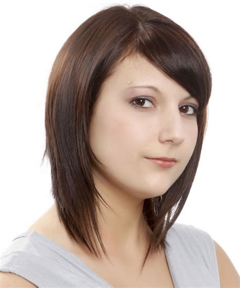 brunette hairstyles wiyh swept away bangs bob hairstyles and haircuts in 2018 page 2