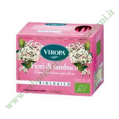 fiori di sambuco tisana vendita fiori di sambuco biologico di viropa tisana