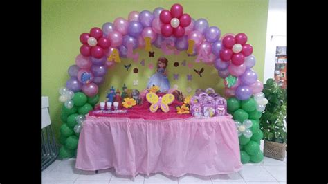 decoracion de cumpleanos princesa sofia youtube