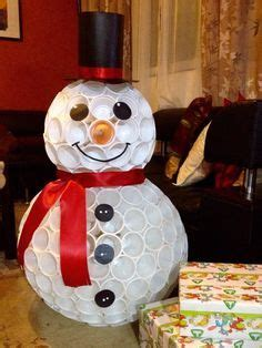 how to mske christmas ornaments with plastic cups snowman out of plastic cups snowman snowman and snowman crafts