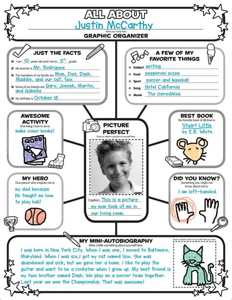 printable biography poster report course ms parsons