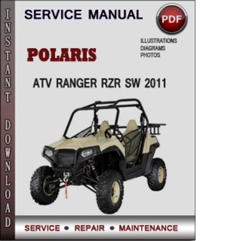 polaris atv ranger rzr sw 2011 factory service repair