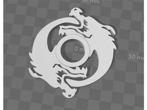 Hanzo Fidget Spinner By Jlaak Thingiverse 3d Printed Fidget Spinner Template