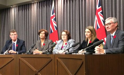 five manitoba cabinet ministers quit in dispute with