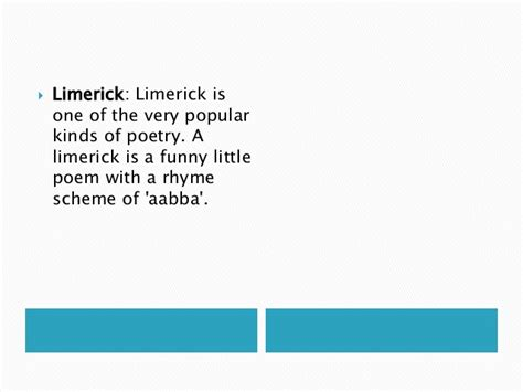 limerick template kinds of poetry with exles
