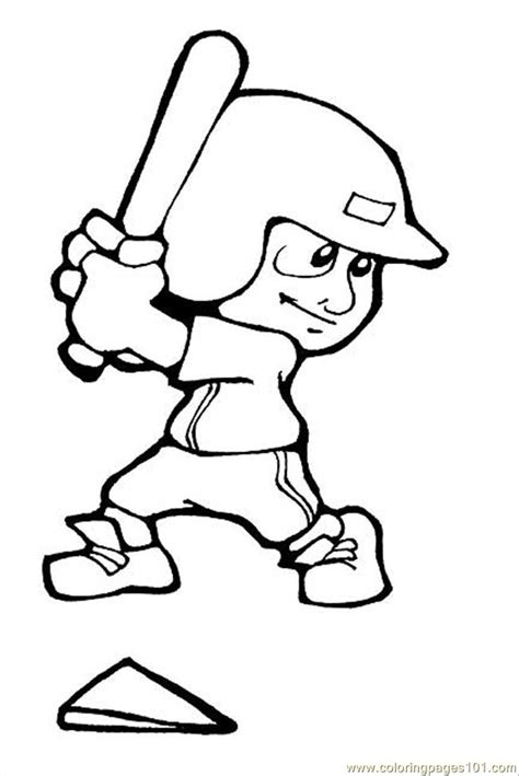Coloring Pages Baseball Sports Gt Baseball Free Baseball Player Coloring Pages