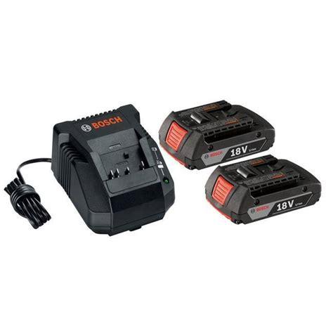 bosch 18v battery charger bosch skc181 02 18v 2 batteries charger starter kit bc