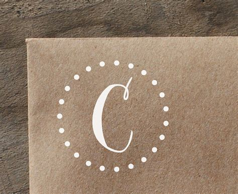 single letter rubber sts single letter monogram with polka dot circle rubber st