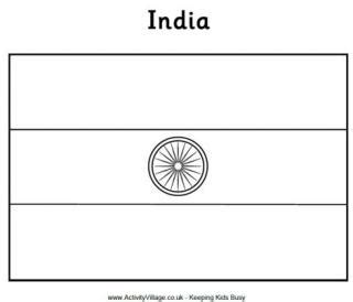 coloring page india flag india flag printables