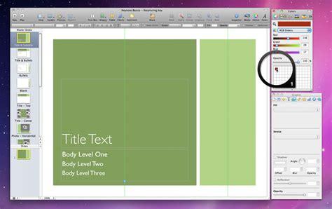 keynote theme palette keynotepro tutorials recoloring shape based keynote