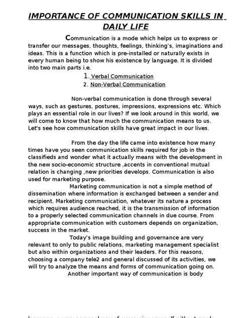 people essay writer helper speech communication importance of communication in our daily life