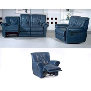 Blue Leather Sofa Set Living Room Sets Leather Sofa Set In Blue S328 Bu Pk Elitedecore
