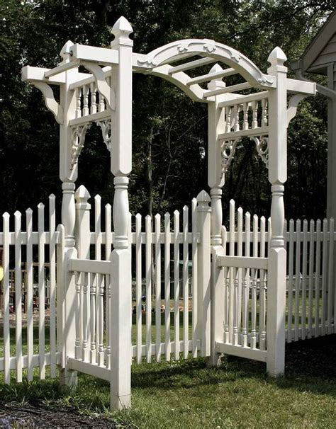 Crib Fence by Arbor With White Fence Our Tudor Home
