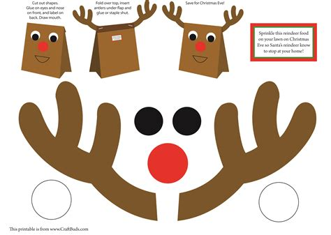 Printable Christmas Crafts | christmas craft craft buds