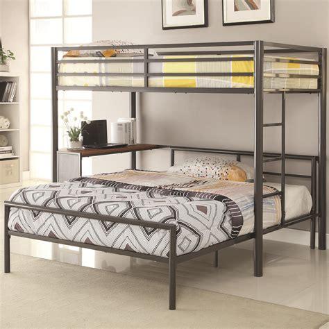 coaster loft bed coaster bunks metal twin over full workstation loft bed